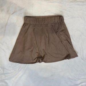 Boohoo faux suede mini skirt